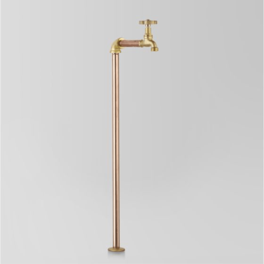 Astra Walker Eden Floor Mounted Pillar Tap | Brass Handle
