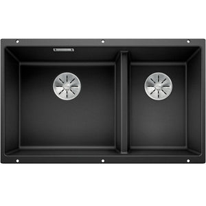 Blanco Silgranit Subline 430/270-U Undermount Double Bowl - Black
