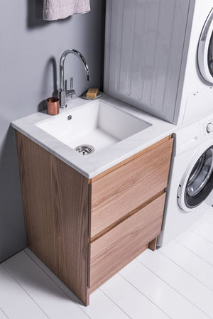 VCBC 750mm Laundry Cabinet with 2 Drawers | Timber Veneer
