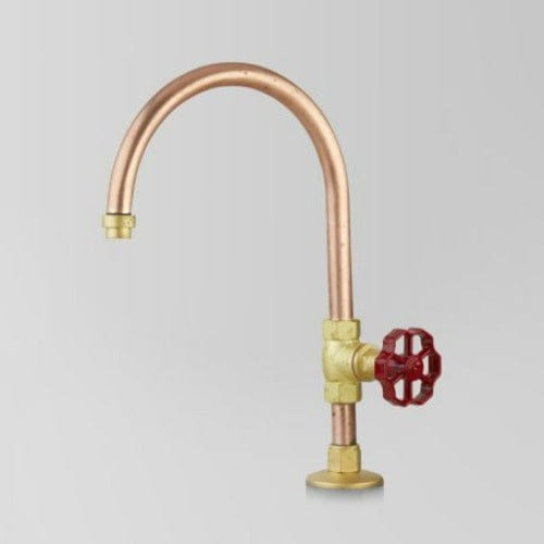 Astra Walker Eden Pillar Tap | Red Handle