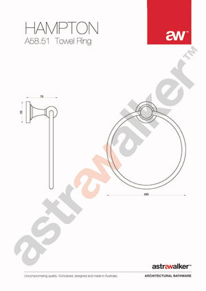 Astra Walker Hampton Towel Ring