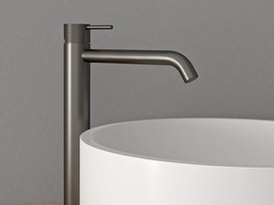 Oli Vessel Basin Mixer with Linear Handle - 316 Stainless Steel