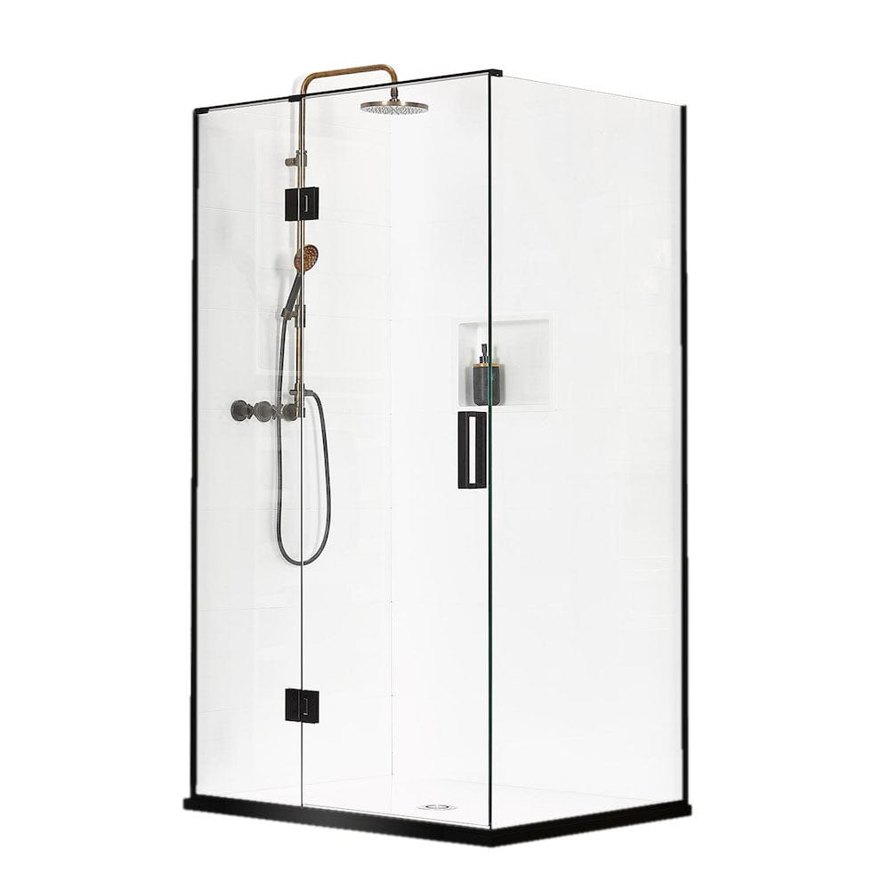 Atlantis Black Pearl Monaco 2-Walled Shower - 900 x 900mm