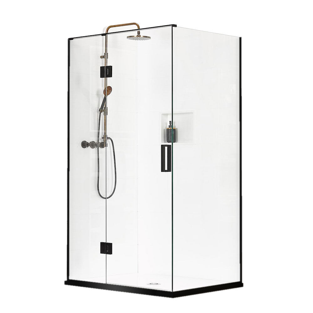 Atlantis Black Pearl Malibu 2-Walled Shower - 1000 x 1000mm