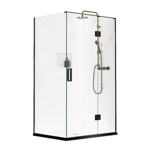 Atlantis Black Pearl Mauritius 2-Walled Shower - 1200 x 900mm