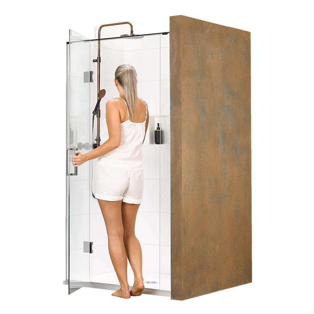 Atlantis Black Pearl Bermuda 3-Walled Shower - 1500 x 1000mm