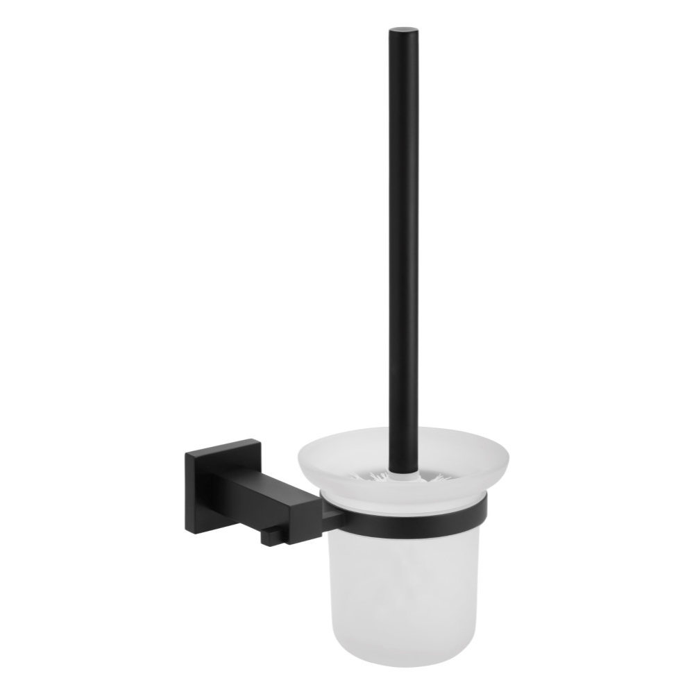Meir Round Toilet Brush and Holder - Black