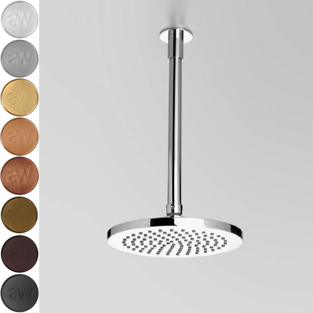 Astra Walker Metropolis Round Ceiling Mounted Shower with 200mm Rose