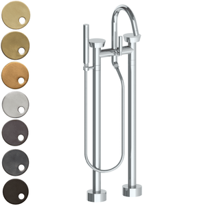 The Watermark Collection Zen Freestanding Bath Set with Slimline Hand Shower