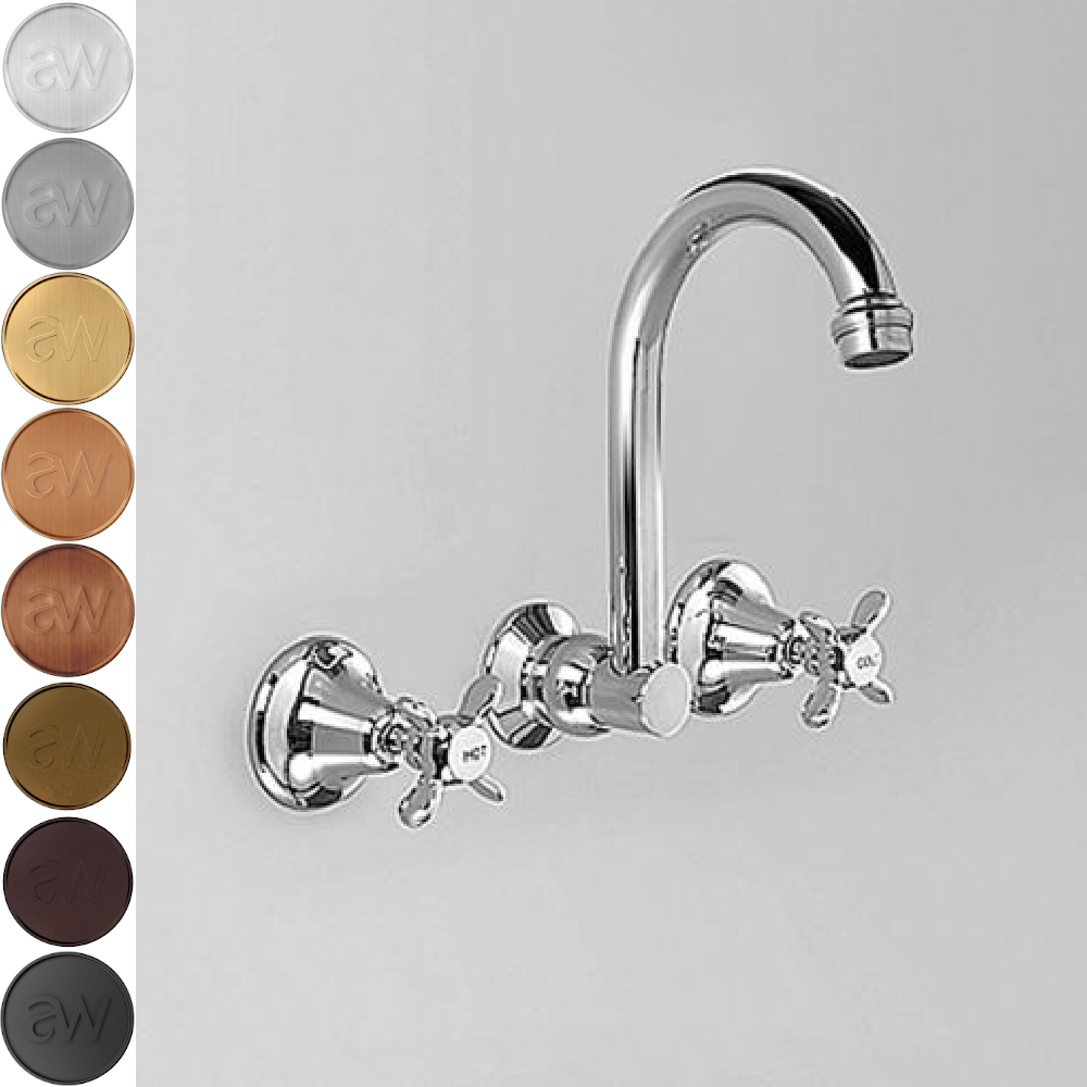 Astra Walker Olde English Gooseneck Wall Set with 170mm Spout