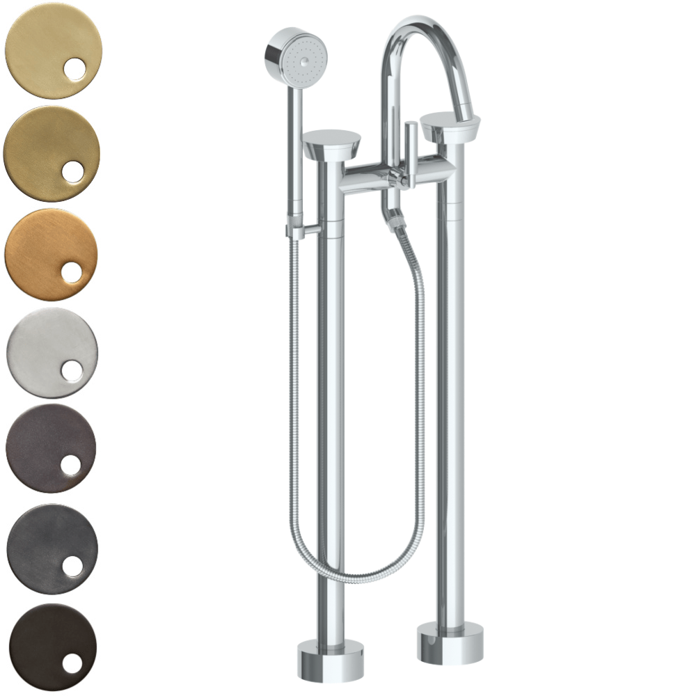 The Watermark Collection Zen Freestanding Bath Set with Volume Hand Shower
