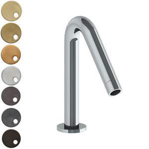 The Watermark Collection Titanium Hob Mounted Angled Bath Spout