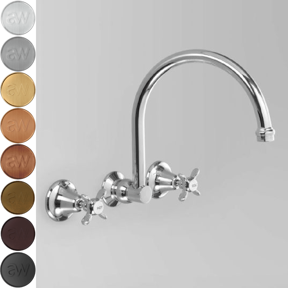 Astra Walker Olde English Gooseneck Wall Set with 260mm Spout