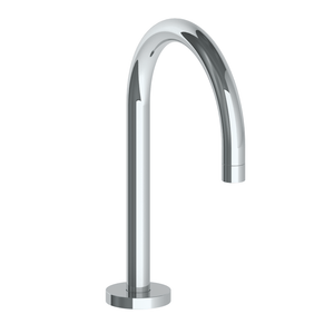 The Watermark Collection Titanium Hob Mounted Swan Bath Spout