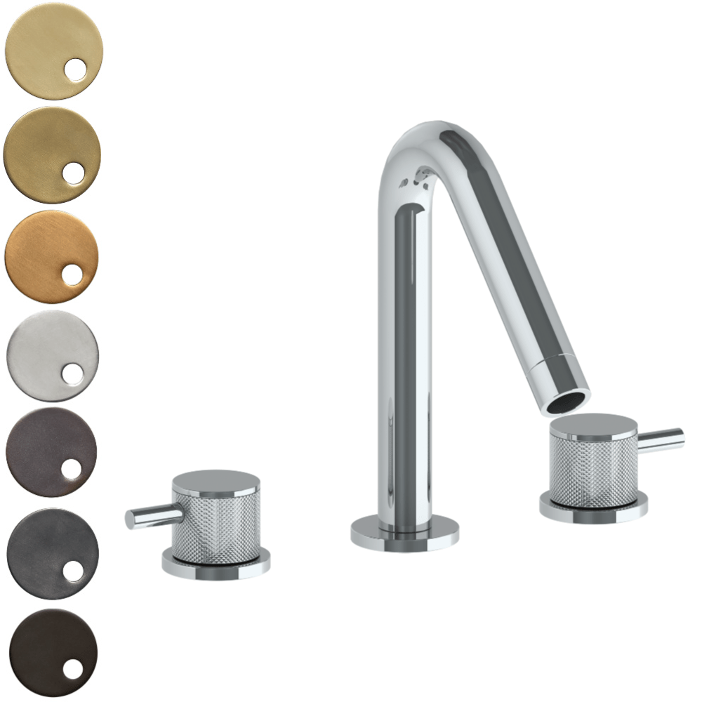 The Watermark Collection Titanium 3 Hole Bath Set with Angled Spout