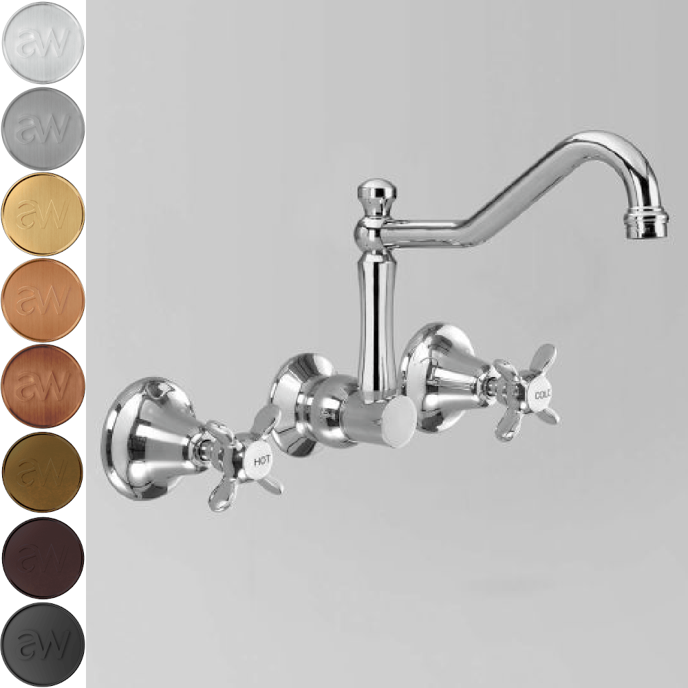 Astra Walker Olde English Stanmore Wall Set with 260mm Spout