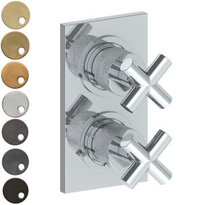 The Watermark Collection Sense Mini Thermostatic Shower Mixer with Diverter - Cross Handle