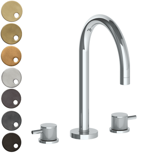 The Watermark Collection Titanium 3 Hole Bath Set with Swan Spout