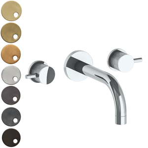 The Watermark Collection Titanium Wall Mounted 3 Hole Bath Set