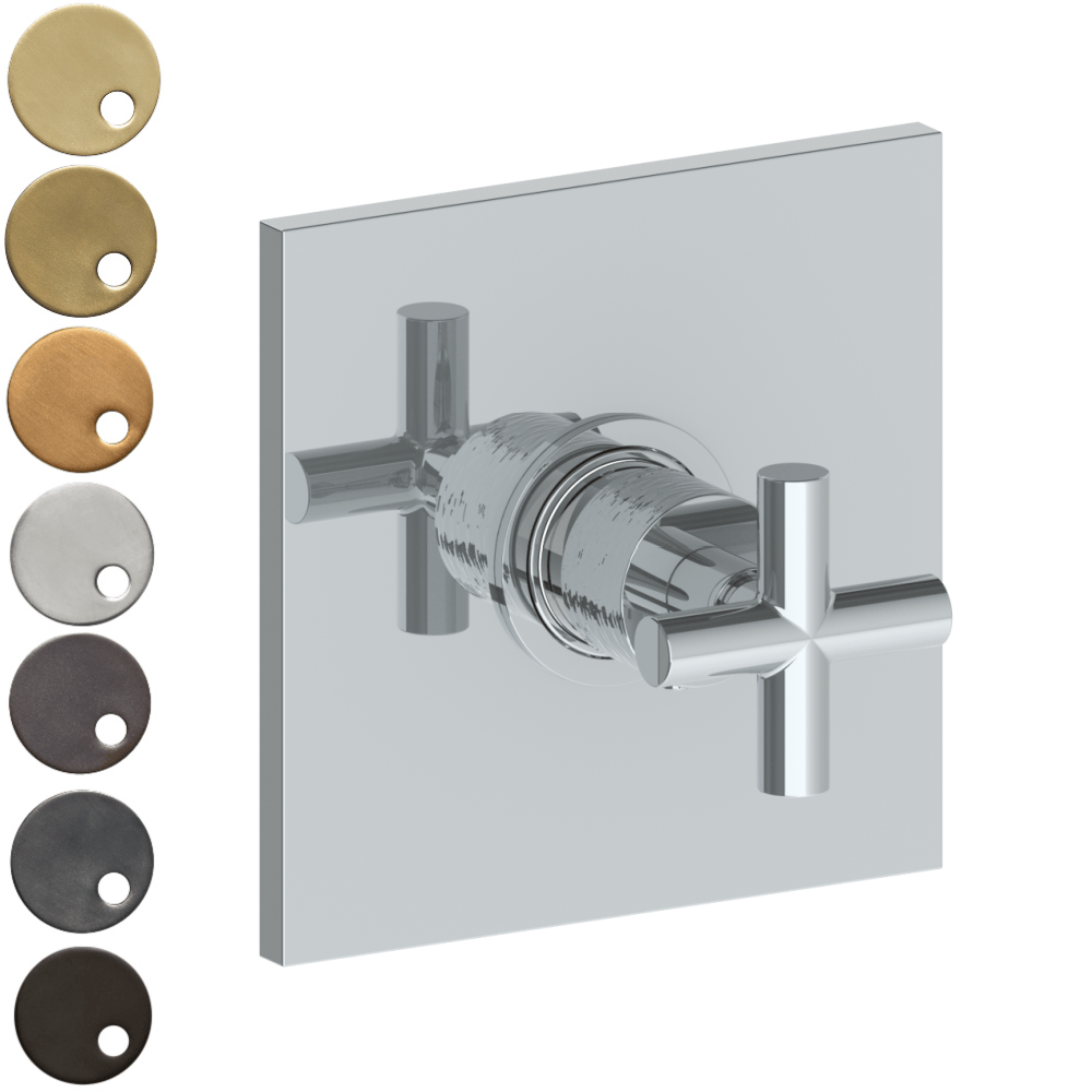 The Watermark Collection Sense Thermostatic Shower Mixer - Cross Handle