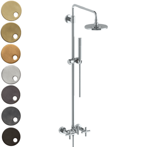 The Watermark Collection Sense Exposed Deluge Shower & Hand Shower Set - Cross Handle
