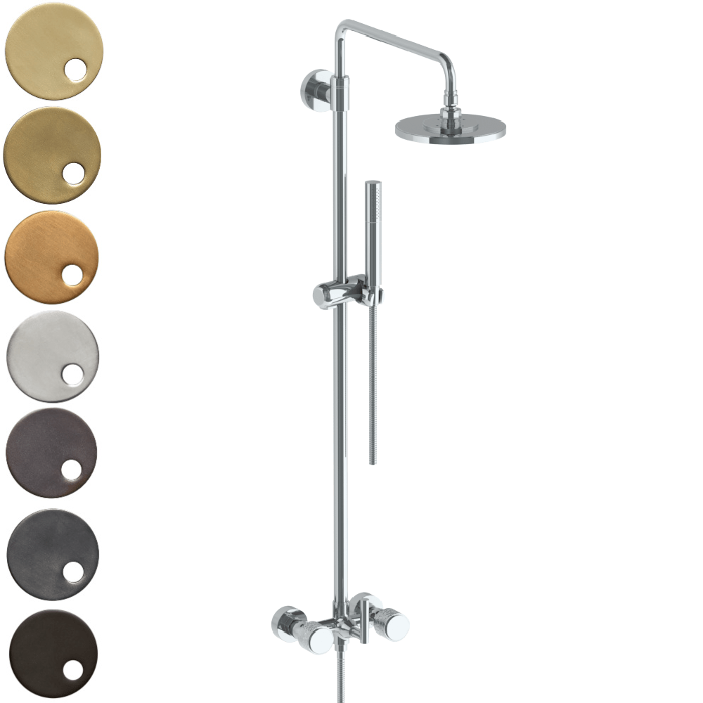 The Watermark Collection Sense Exposed Deluge Shower & Hand Shower Set - Dial Handle