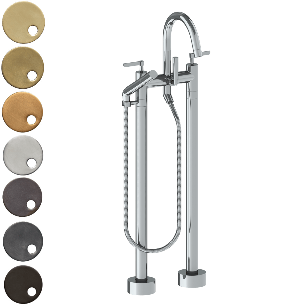 The Watermark Collection Highline Freestanding Bath Set with Slimline Hand Shower - Lever Handle