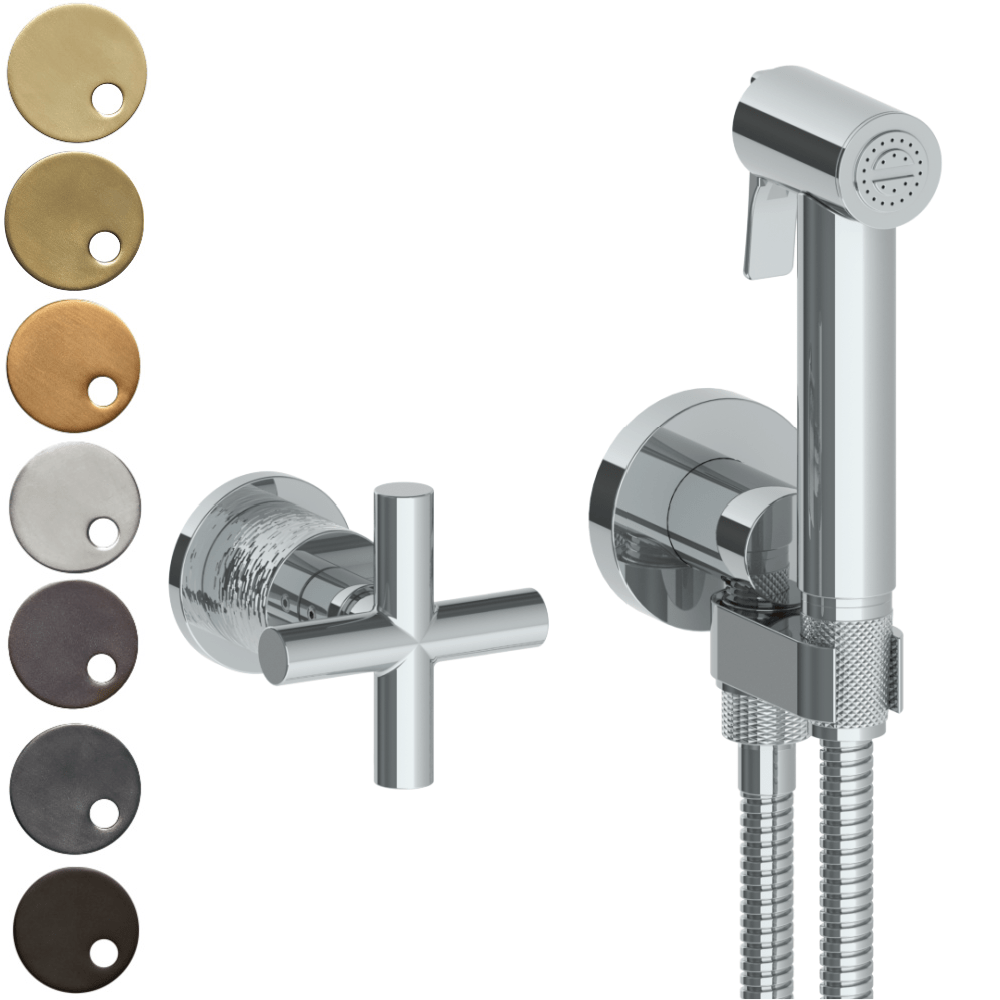 The Watermark Collection Sense Wall Mounted Bidet Spray Set with Mixer - Cross Handle