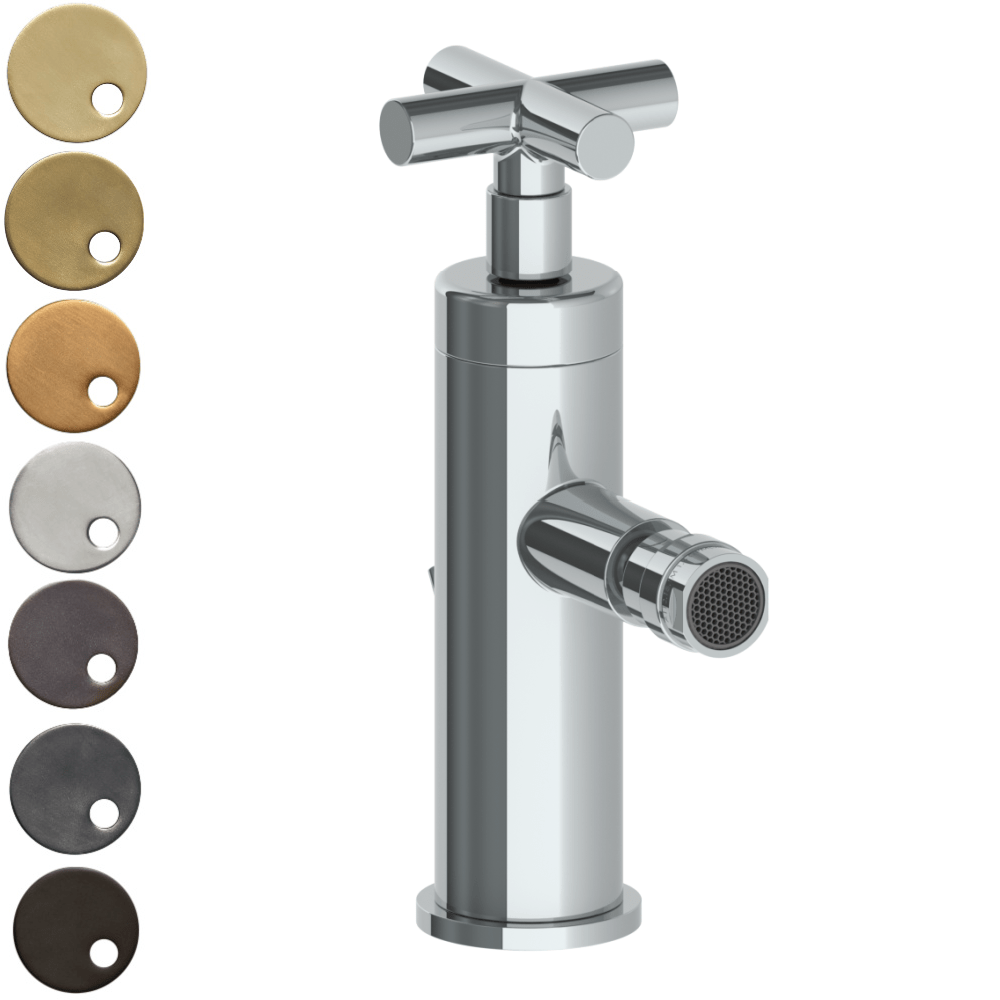 The Watermark Collection Sense Monoblock Bidet Mixer - Cross Handle