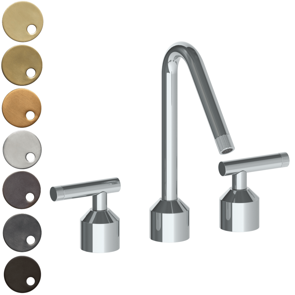 The Watermark Collection Urbane 3 Hole Kitchen Set with Angled Spout - Astor Handle