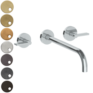 The Watermark Collection London Wall Mounted 3 Hole Basin Set with 296mm Spout - Lever Handle