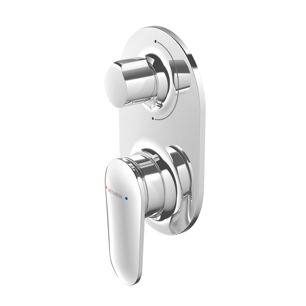 Methven Aio Shower Mixer with Diverter - Chrome
