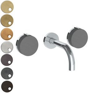 The Watermark Collection Elements Wall Mounted 3 Hole Basin Set with 142mm Spout - Scallop Insert