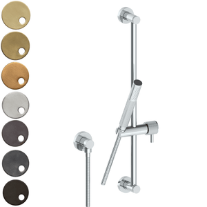 The Watermark Collection Titanium Slimline Slide Shower