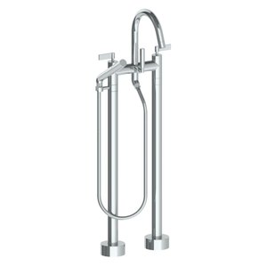 The Watermark Collection London Freestanding Bath Set with Slimline Hand Shower - Lever Handle