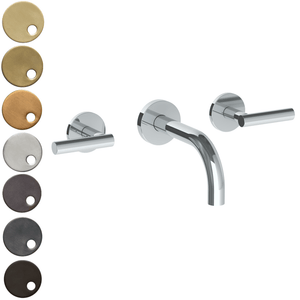 The Watermark Collection Loft Wall Mounted 3 Hole Basin Set with 142mm Spout