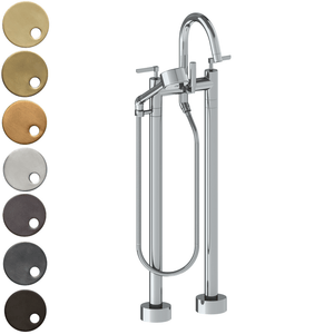 The Watermark Collection Highline Freestanding Bath Set with Volume Hand Shower - Lever Handle