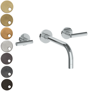 The Watermark Collection Loft Wall Mounted 3 Hole Basin Set with 212mm Spout