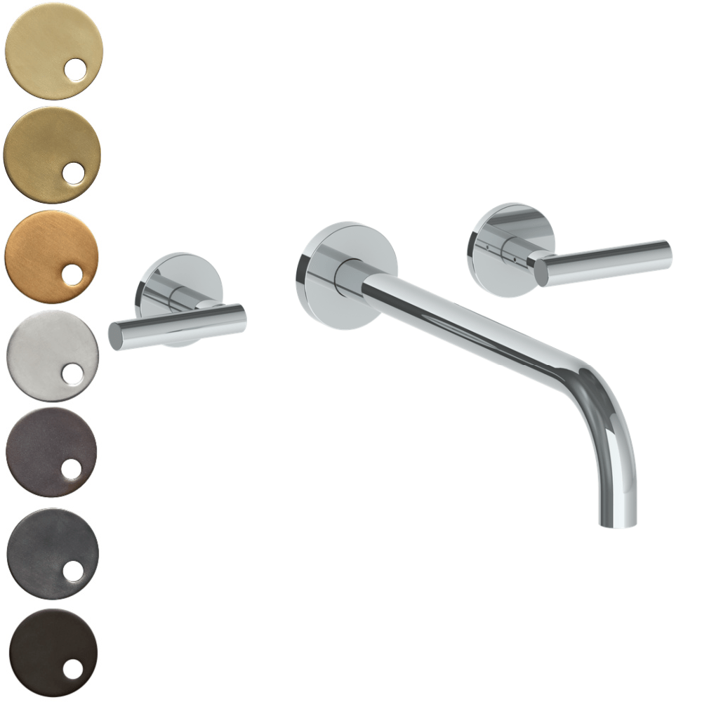 The Watermark Collection Loft Wall Mounted 3 Hole Basin Set with 296mm Spout