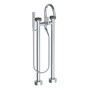The Watermark Collection Elements Freestanding Bath Set with Slimline Hand Shower - Bridge Insert