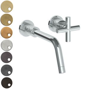 The Watermark Collection Sense Wall Mounted 2 Hole Basin Set - Cross Handle