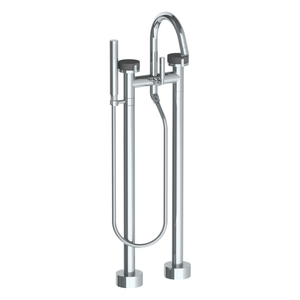 The Watermark Collection Elements Freestanding Bath Set with Slimline Hand Shower - Scallop Insert