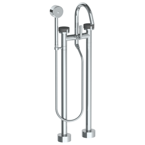 The Watermark Collection Elements Freestanding Bath Set with Volume Hand Shower - Scallop Insert