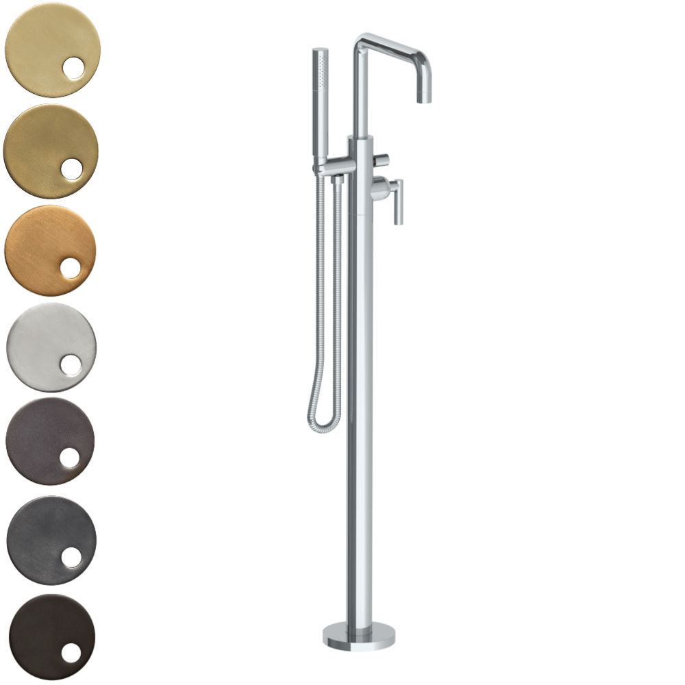 The Watermark Collection Loft Freestanding Bath Set with Slimline Hand Shower & Square Spout
