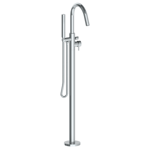 The Watermark Collection Loft Freestanding Bath Set with Slimline Hand Shower & Round Spout