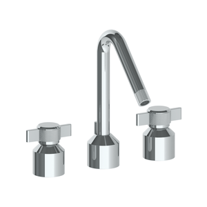 The Watermark Collection Urbane 3 Hole Basin Set with Angled Spout - Cooper Handle
