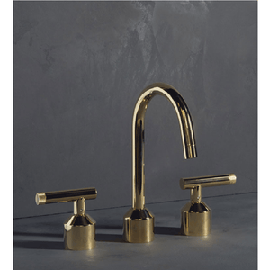 The Watermark Collection Urbane 3 Hole Basin Set with Swan Spout - Astor Handle