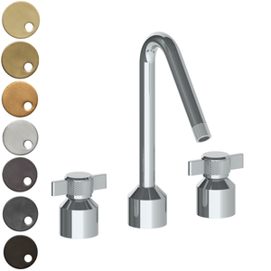 The Watermark Collection Urbane 3 Hole Kitchen Set with Angled Spout - Cooper Handle