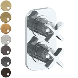 The Watermark Collection London Mini Thermostatic Shower Mixer with Diverter - Cross Handle