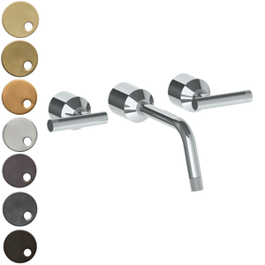 The Watermark Collection Urbane Wall Mounted 3 Hole Basin Set - Astor Handle
